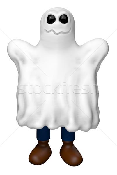 Halloween figura fantasma costume illustrazione 3d party Foto d'archivio © drizzd