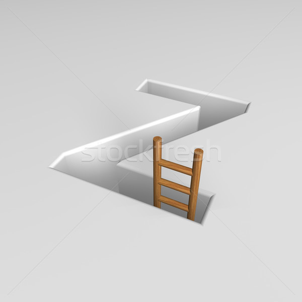 letter z and ladder Stock photo © drizzd