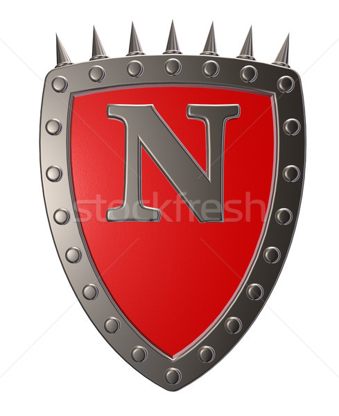 shield with letter n Stock photo © drizzd