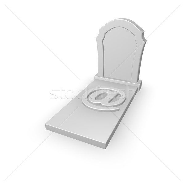 Spam grafsteen e-mail symbool witte 3d illustration Stockfoto © drizzd