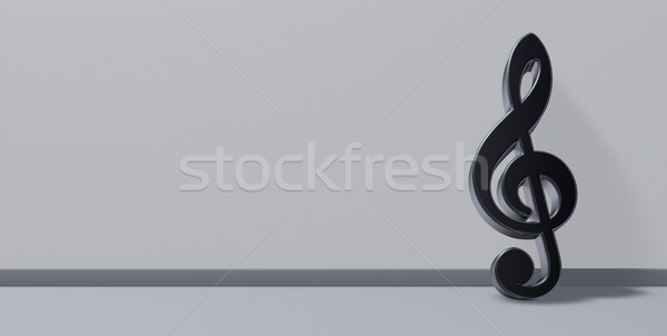 metal clef - 3d illustration Stock photo © drizzd