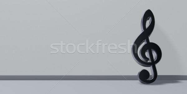 Metal ilustração 3d assinar chave planta Áudio Foto stock © drizzd