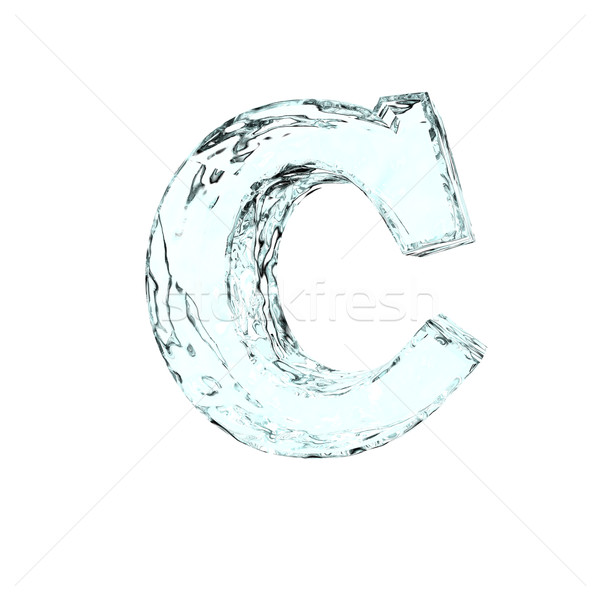 frozen letter c Stock photo © drizzd