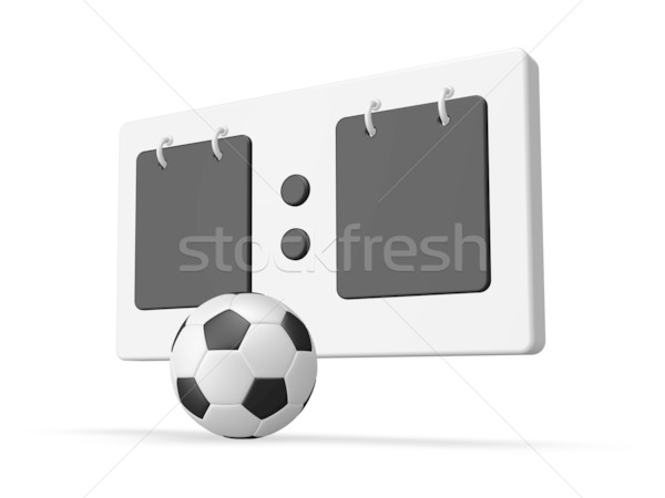 Football tableau de bord ballon blanche 3d illustration balle Photo stock © drizzd