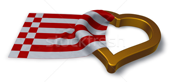flag of bremen and heart symbol - 3d rendering Stock photo © drizzd