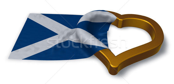 Banderą Szkocji serca symbol 3D Zdjęcia stock © drizzd