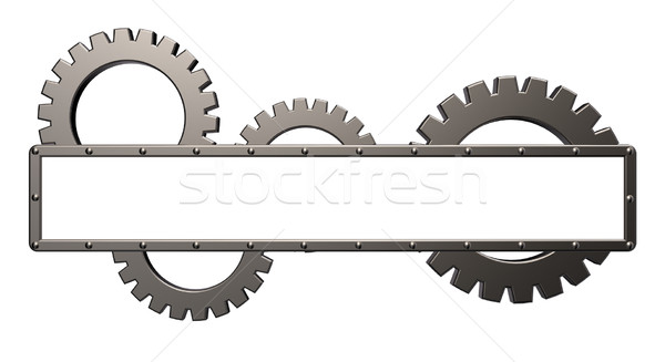 Industrial metal quadro engrenagem rodas ilustração 3d Foto stock © drizzd