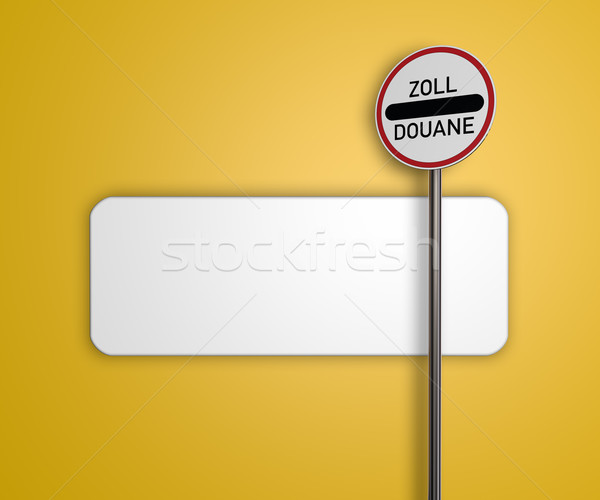 zoll roadsign Stock photo © drizzd