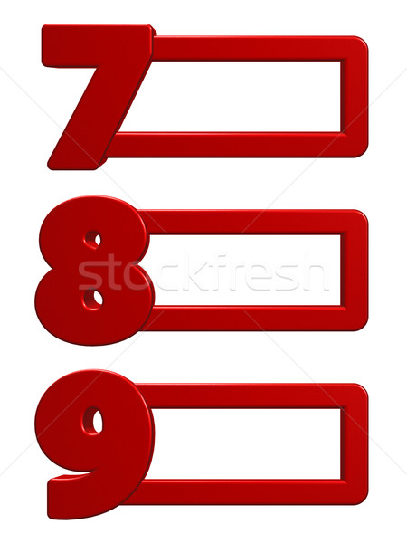 numbers with frames Stock photo © drizzd