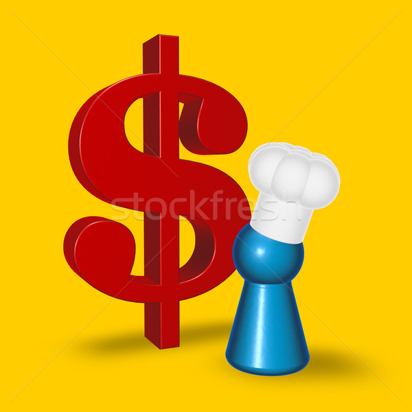 cook token and dollar symbol Stock photo © drizzd
