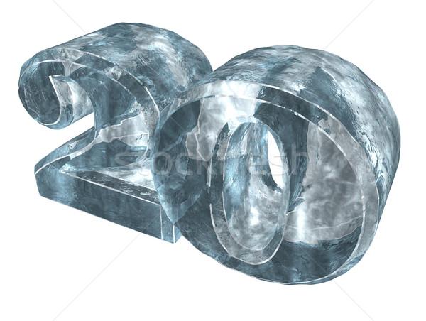 Congelada vinte número 20 branco ilustração 3d Foto stock © drizzd