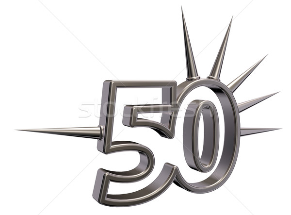number fifty with prickles - 3d illustration Stock photo © drizzd