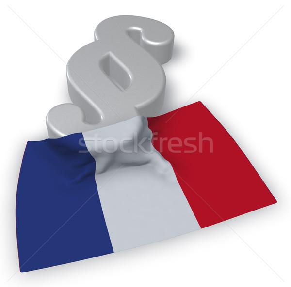 Stock foto: Absatz · Symbol · Flagge · Frankreich · 3D · Rendering