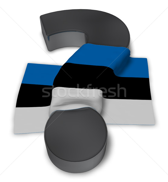 Vraagteken vlag 3d illustration teken helpen land Stockfoto © drizzd