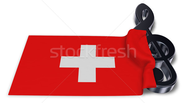 clef symbol symbol and swiss flag - 3d rendering Stock photo © drizzd