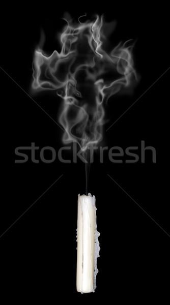 Dymu krzyż Świeca Christian 3d ilustracji Zdjęcia stock © drizzd