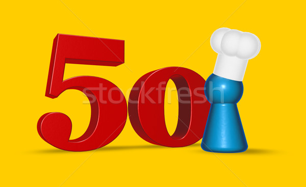 number fifty cook Stock photo © drizzd