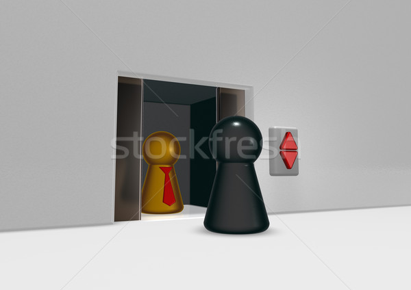 лифта играть 3d иллюстрации служба интерьер полу Сток-фото © drizzd