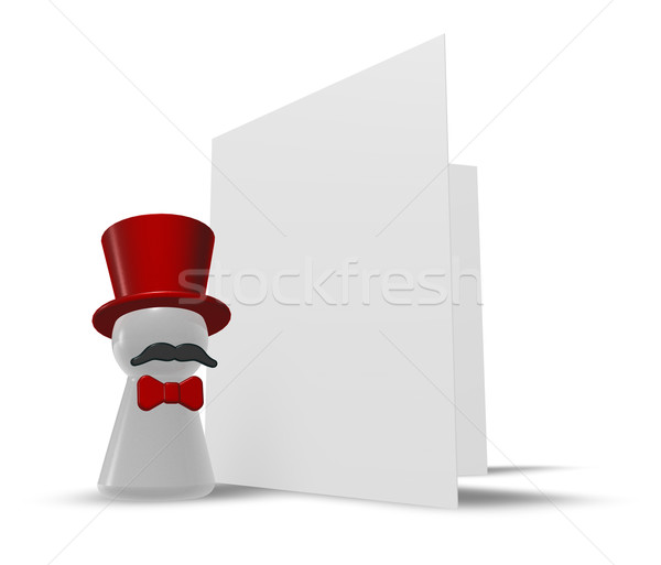 Karty gratulacja 3d ilustracji strony zabawy maska Zdjęcia stock © drizzd