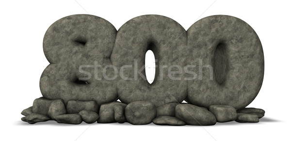 stone number eight hundred on white background - 3d rendering Stock photo © drizzd