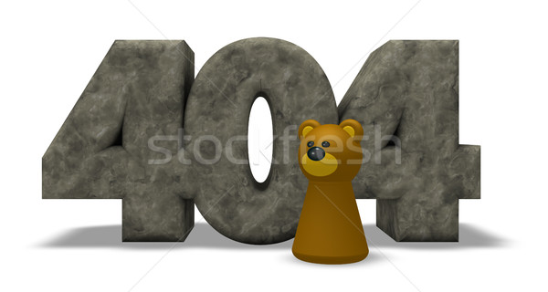 Foto stock: Pedra · número · 404 · tenha · ilustração · 3d