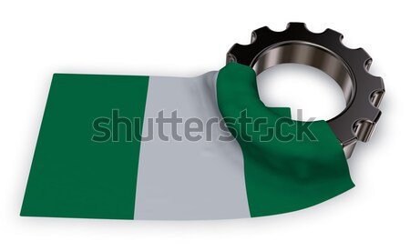 female symbol and flag of nigeria - 3d rendering Stock photo © drizzd