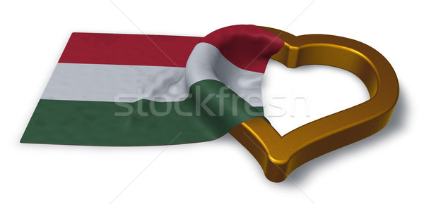 flag of hungary and heart symbol - 3d rendering Stock photo © drizzd