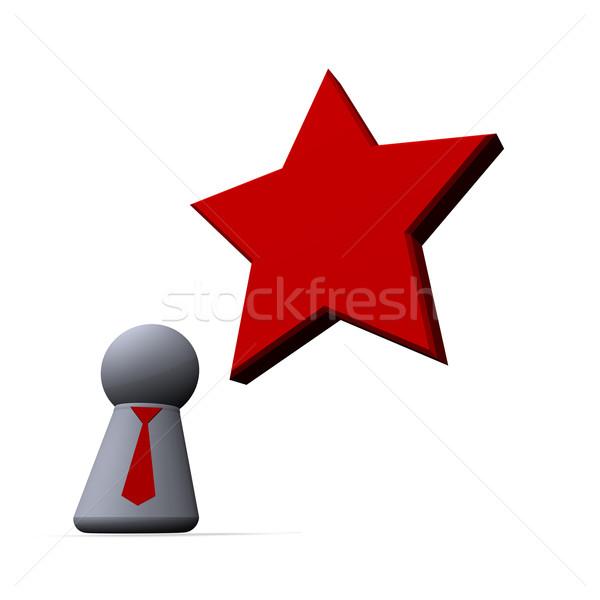 Forradalom piros csillag játék alkat nyakkendő Stock fotó © drizzd