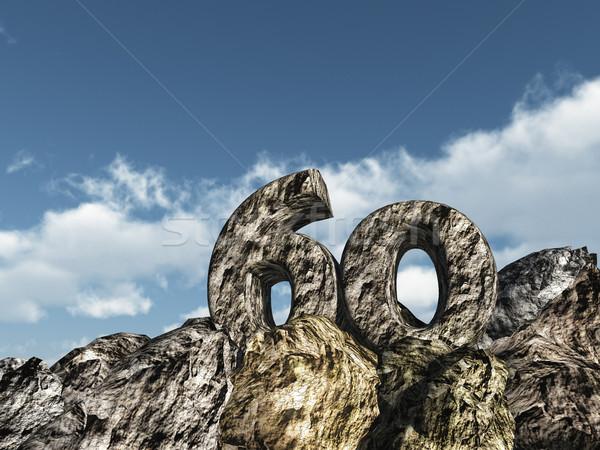 Zestig rock aantal 3d illustration partij landschap Stockfoto © drizzd