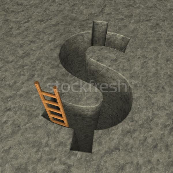 dollar hole Stock photo © drizzd