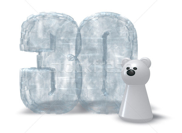frozen thirty and polar bear Stock photo © drizzd