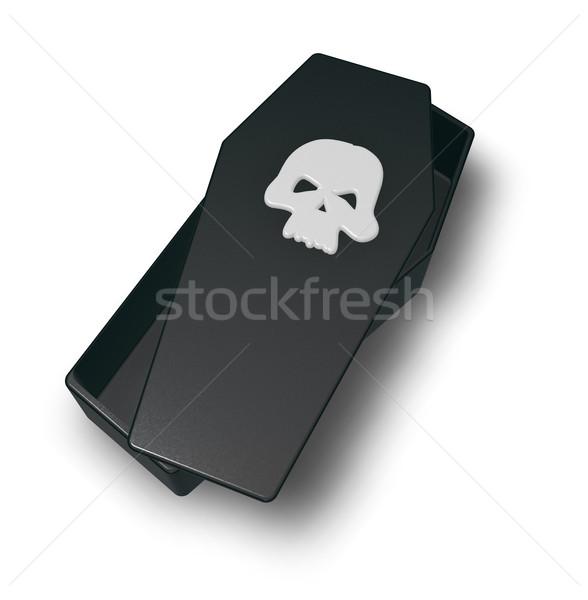 skull coffin Stock photo © drizzd