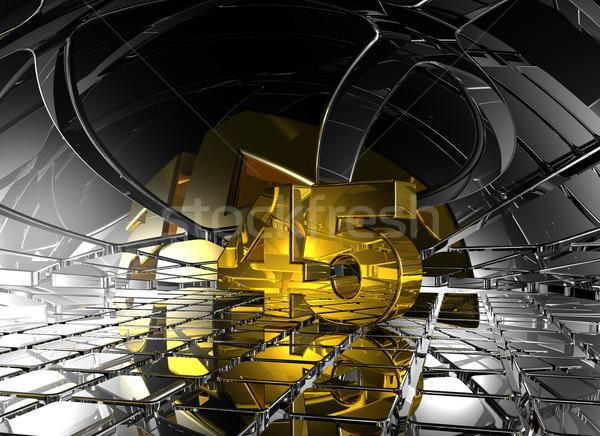 Numara kırk beş soyut fütüristik uzay Stok fotoğraf © drizzd