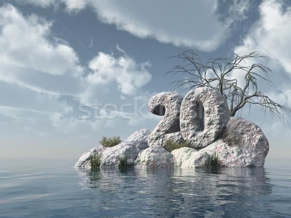 number twenty rock Stock photo © drizzd