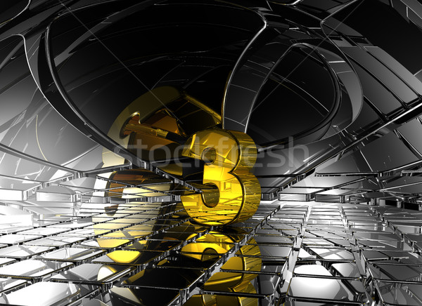 number three in abstract futuristic space - 3d rendering Stock photo © drizzd
