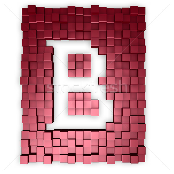 red cubes makes the letter b Stock photo © drizzd