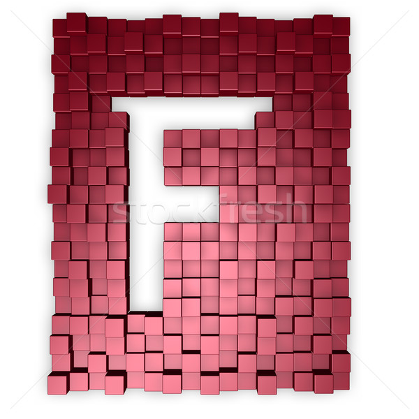 cubes makes the letter f Stock photo © drizzd