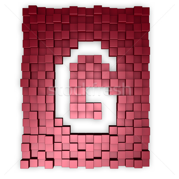 cubes makes the letter g Stock photo © drizzd