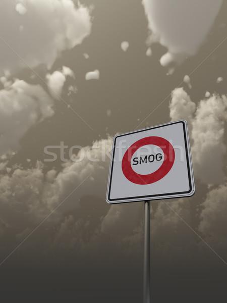 Smog sombre ciel 3d illustration terre Photo stock © drizzd