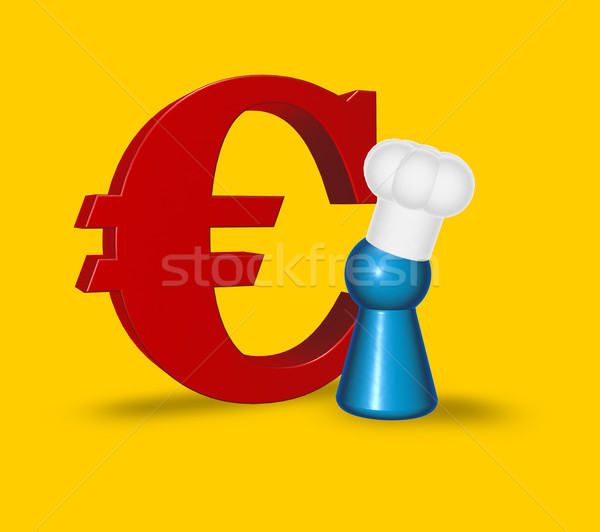 cook token and euro symbol Stock photo © drizzd
