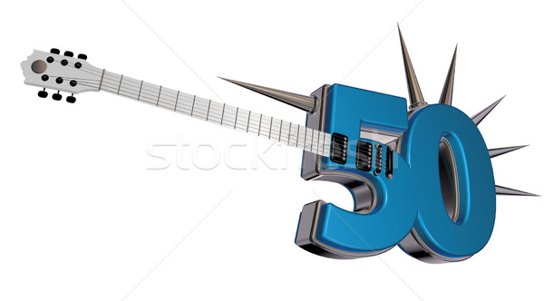 number fifty guitar Stock photo © drizzd