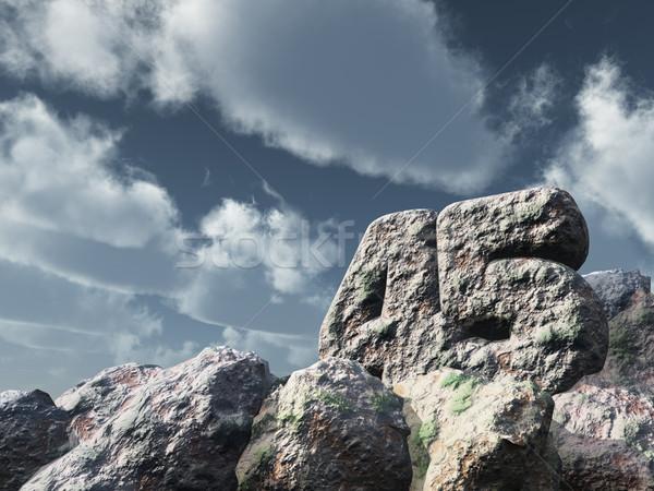 Nombre quarante cinquième Rock nuageux ciel bleu Photo stock © drizzd