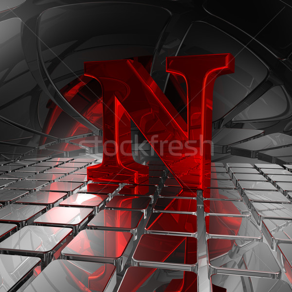 n in futuristic space Stock photo © drizzd