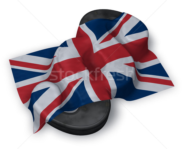 paragraph symbol and flag of the uk - 3d rendering Stock photo © drizzd