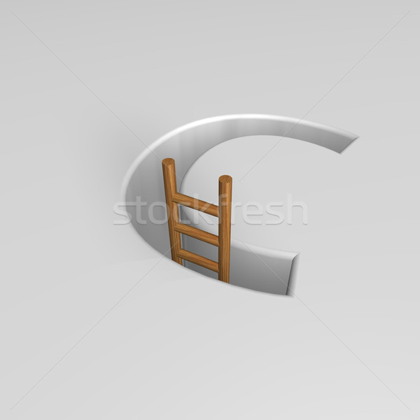 letter c and ladder Stock photo © drizzd