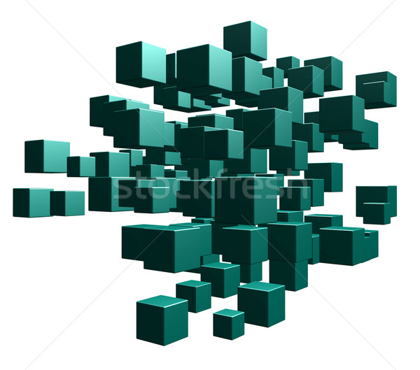 Chaos zielone biały 3d ilustracji Zdjęcia stock © drizzd