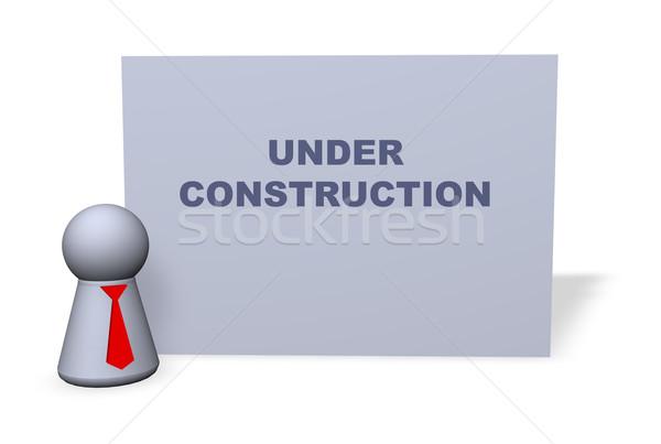 építkezés játék alkat piros nyakkendő felirat Stock fotó © drizzd