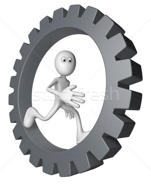 Artes rueda blanco tipo ejecutando dentro Foto stock © drizzd