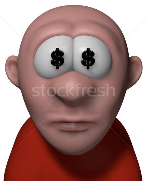 Könyvelő rajz fickó dollár szimbólumok szemek Stock fotó © drizzd