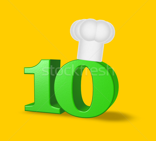 number ten cook Stock photo © drizzd